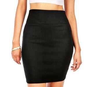 Basic Black GUC mini Skirt